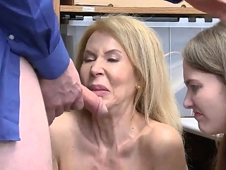 blonde Natural hairy mature and trapped in hardcore gangbang Suspec blowjob
