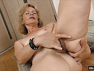 blonde Lustful deaf-mute Russian grandma Diana... 1 fingering