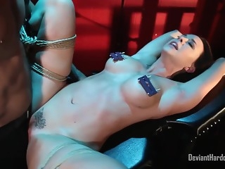 bdsm Kinky woman with big tits, Chanel Preston got tied up and fucked until she came big tits