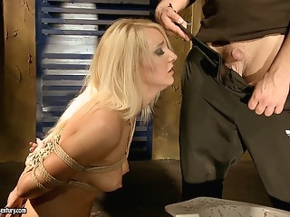 bdsm Valerie Follass in a scene of domination blonde