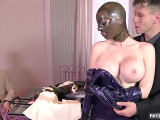 bdsm Latex beauty, Lucy is getting fucked very hard and cant wait to get a facial cumshot big tits